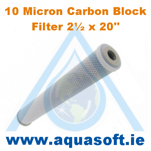Carbon Block (10 Micron)  - 2½'' x 20'' inch