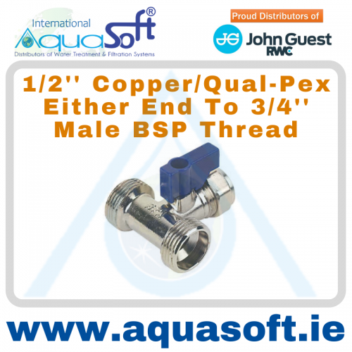 1/2'' Copper / Qual-PEX x 3/4'' BSP male thread