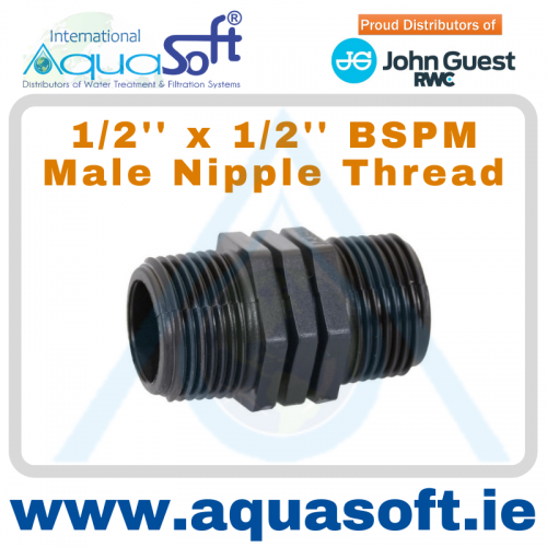 1/2'' x 1/2'' BSPM Male Nipple Thread