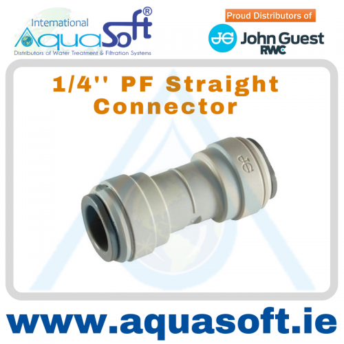1/4'' PF Straight Connector - PI0408S