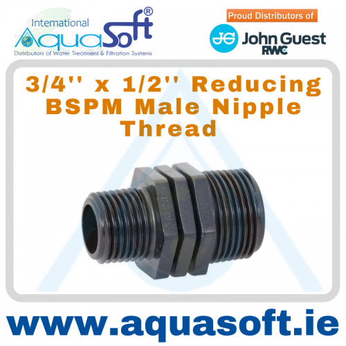 3/4'' x 1/2''  Reducing BSPM Male Nipple Thread