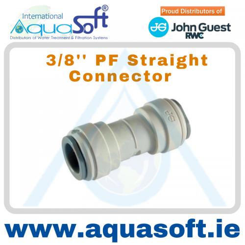 3/8'' PF Straight Connector - PI0412S