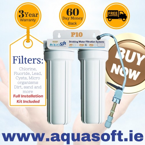 Aquasoft™ P-10 Lead, Chlorine & Fluoride Filter System