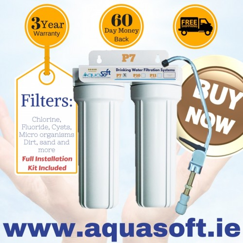 Aquasoft™ P-7 Twin Chlorine & Fluoride Filter System