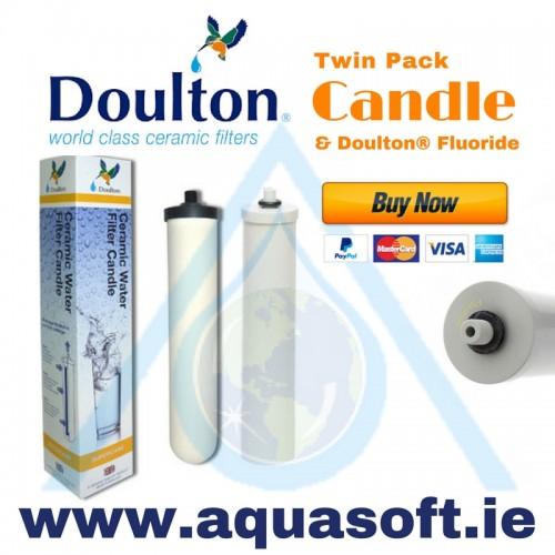 aquasoft ireland doulton ceramic supercarb w9122050 u0026 w9125030 fluoride undersink replacement water filter pack - Fluoride Filter