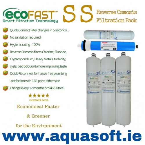 Aquasoft™ | EcoFAST™ SS | 5 Stage R/O Filter Pack