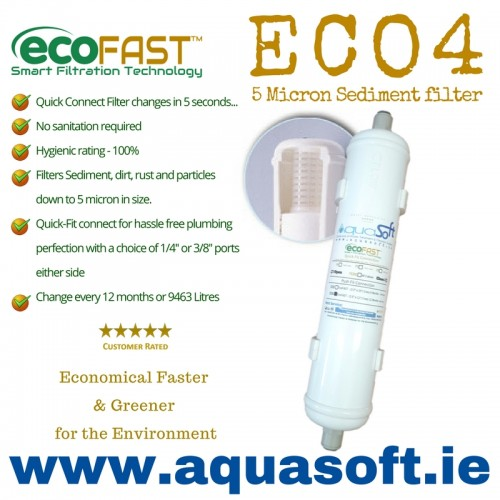 EcoFAST™ ECO4 | Push-Fit | Inline Filter