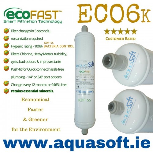EcoFAST™ ECO6K | Push-Fit | Ultra Inline Filter