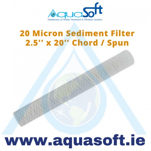 "Sediment filter 2½"" x 20"" String Wound: 20 Micron"