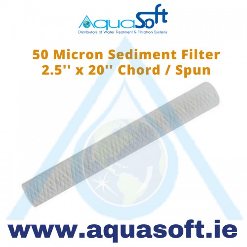 "Sediment filter 2½"" x 20"" String Wound: 50 Micron"