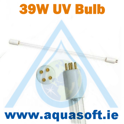 39 Watt Ultra Violet long life Bulb 4 pin 445mm