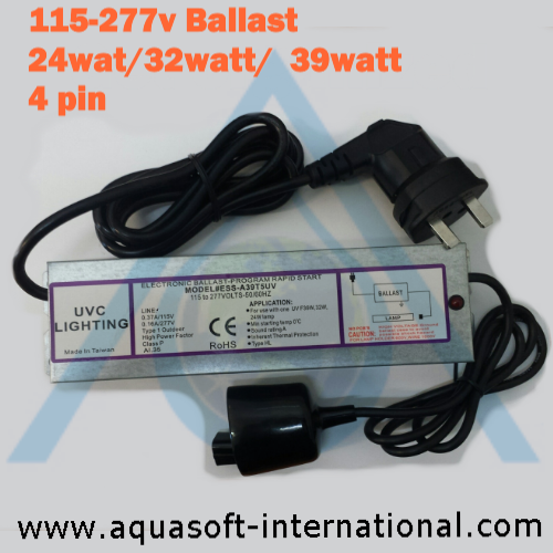 UV Lamp Ballast 115 to 277v suits 24watt to 39watt 4 pin UV Lamps