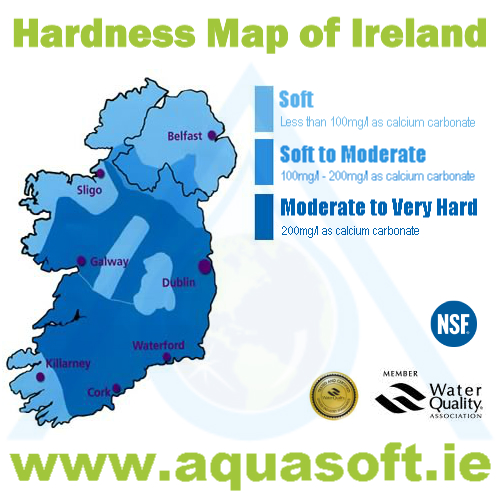 Empty Map Of Ireland.Hardness Map Of Ireland Limescale Map Of Ireland Hard Soft